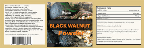 Organic Black Walnut Hull Powder 8 oz