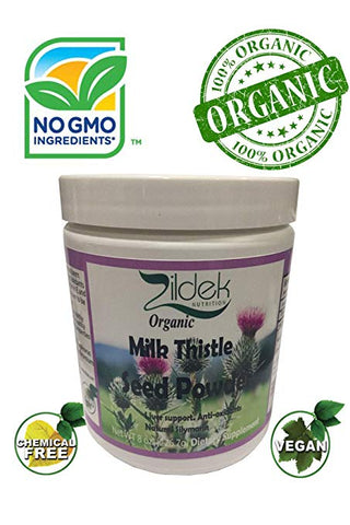 Organic All Natural Milk Thistle Seed Powder 8oz