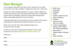 BE FAIR Product Request Card