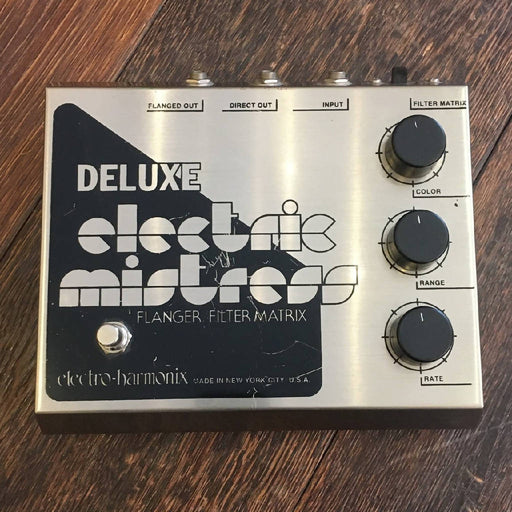 Used Electro-Harmonix Electric Mistress Flanger Guitar Effect Pedal W/ Adapter
