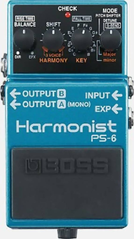 Boss PS-6 Harmonist Harmony Guitar Pedal Stompbox Free US Shipping Four intelligent pitch effects