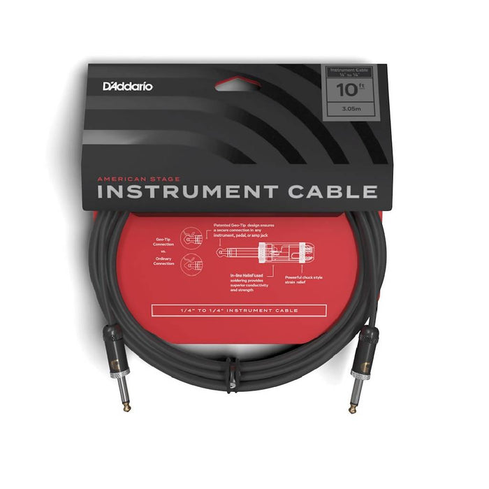 D'Addario PW-AMSG-10 American Stage Instrument Cable 10ft