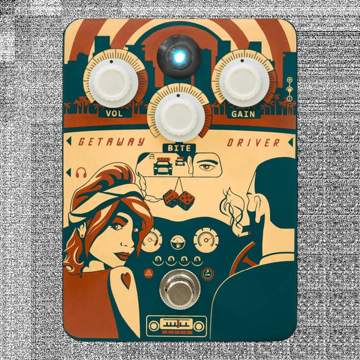 Orange Getaway Driver Overdrive Pedal