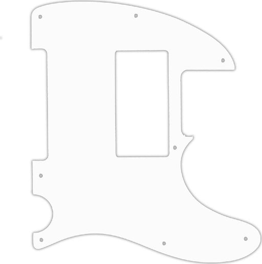 WD Custom Pickguard For Fender Special Edition HH Telecaster #02 White