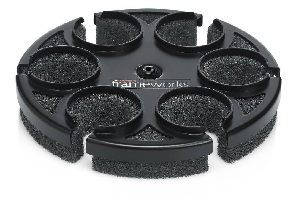 Gator Multi Mic Accessory Tray GFW-MIC-6TRAY Great for Praise Teams, Churches