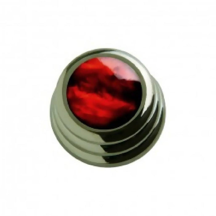 Q-Parts Ringo Blk Red Pearl Knob