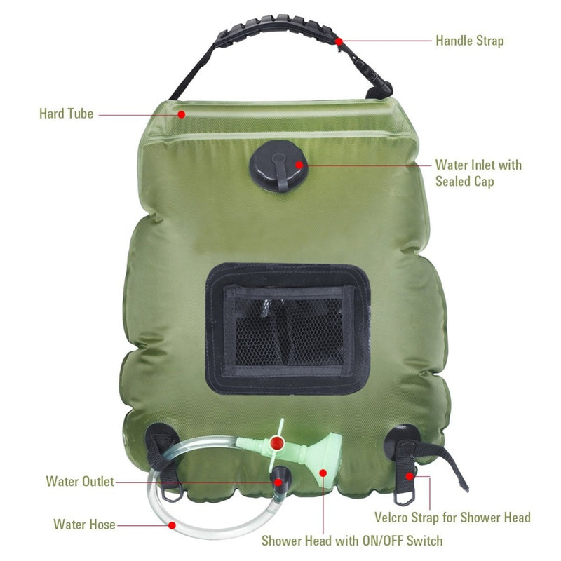 Solar Camping Shower Bag