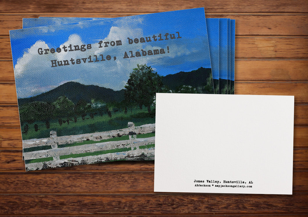 Greetings From Huntsville (Jones Valley) Note Cards (5-pack)