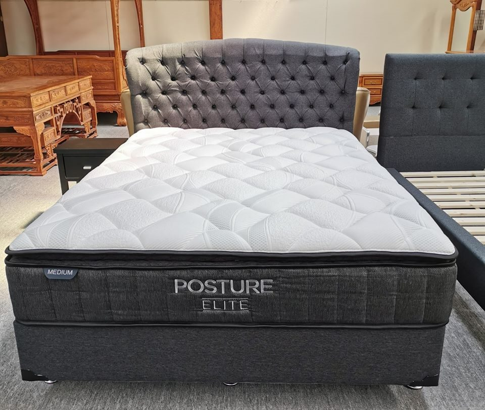 2PCS Combo NZ Made Queen Base & 35cm Thick Posture Elite Queen Mattress