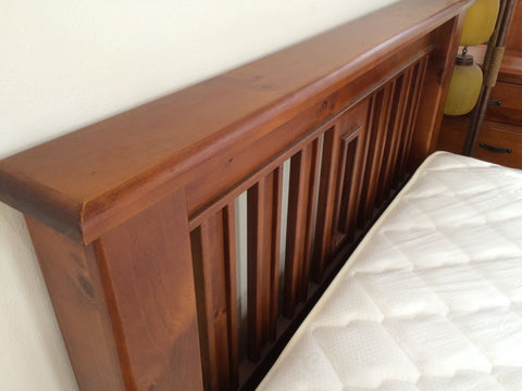 Superking Size Bed Solid Pine Wood Strong Slat Bed (Fergus)