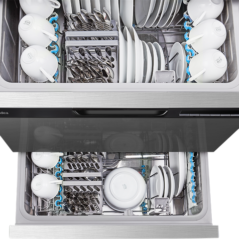 Midea 14 Place Settings Double Drawer Dishwasher JHDWDD14SS - Midea | Home Appliances New Zealand