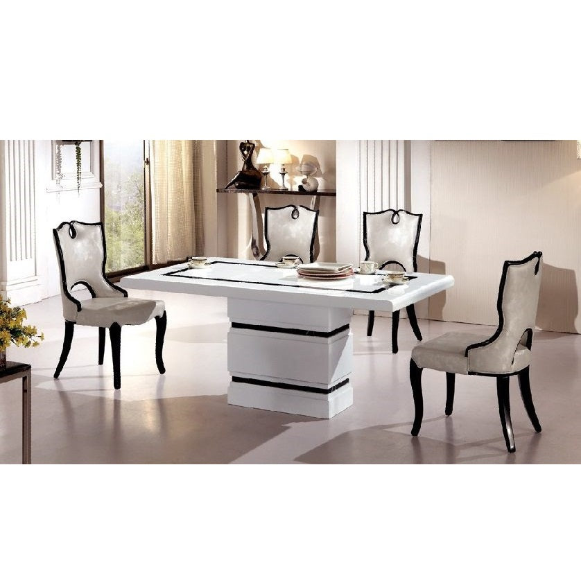White and Black Marble Dining Table (T2136#)