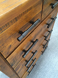 Tallboy Solid Pine Wood Rough Sawn and Rustic (Woodlock)