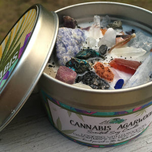 CANNABIS & CRYSTALS SOY CANDLE