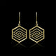 Hexagon Contemporary Earrings