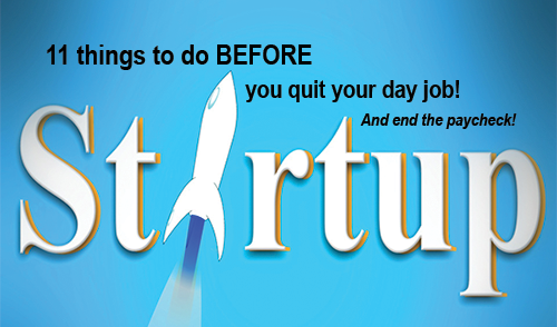 WEBINAR: Entrepreneurship. 11 things to do before you quit your job