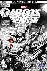 Marvel - Iron Fist #1 (Cvr B) The Hall of Comics/CBCS Ryan Stegman Exclusive Black & White & Red Variant Cover