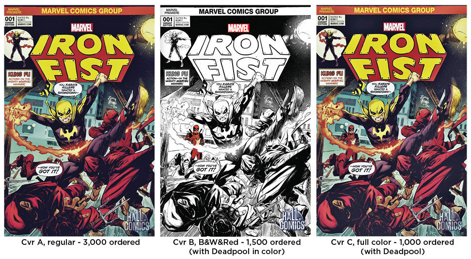 Iron Fist #1 - 3x Set (Cvrs A, B, C) Variant Cover Set
