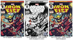 Marvel - Iron Fist #1 - 3x Set (Cvrs A, B, C) The Hall of Comics/CBCS Ryan Stegman Exclusive Variant Cover Set
