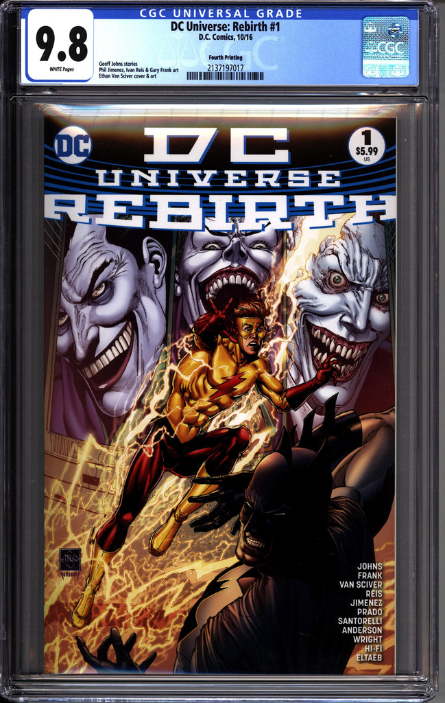 DC Universe: Rebirth #01 - 4th Print - CGC 9.8