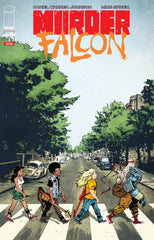 Murder Falcon Beatles Abbey Road homage variant cover Daniel Warren Johnson