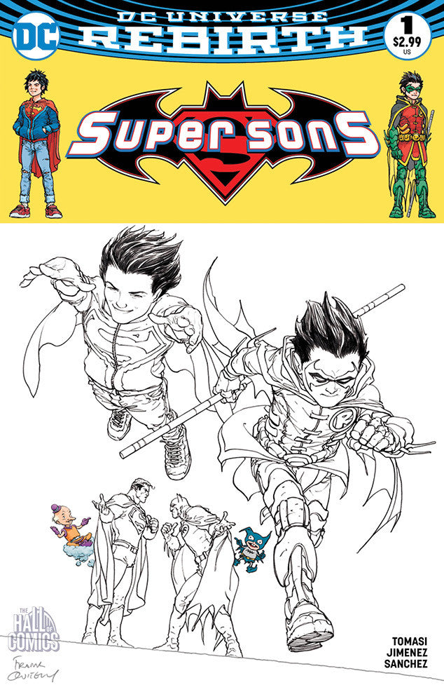 DC Comics - Super Sons #1 (Cvr B) - Hall of Comics/CBCS Exclusive Frank Quitely Black & White Variant Cover
