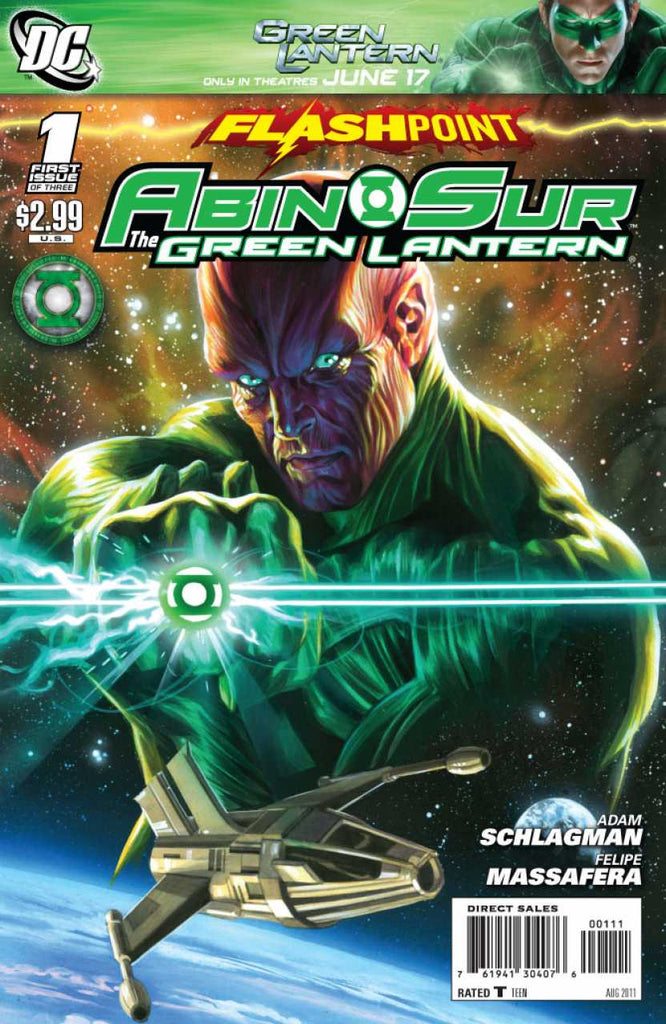 Flashpoint: Abin Sur - The Green Lantern 3x Set