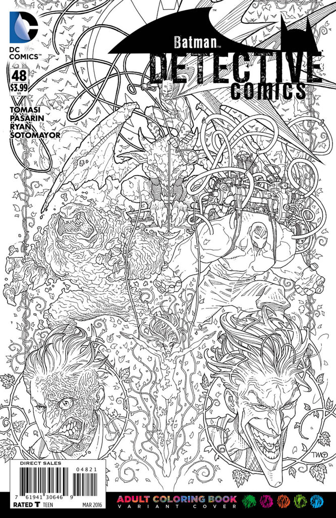 Detective Comics (2011) #48 - Coloring Book Variant