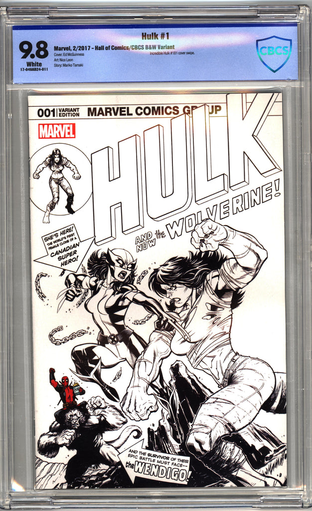 Hulk #1 (Cvr B) Black, White and Red Sketch Variant - CBCS 9.8