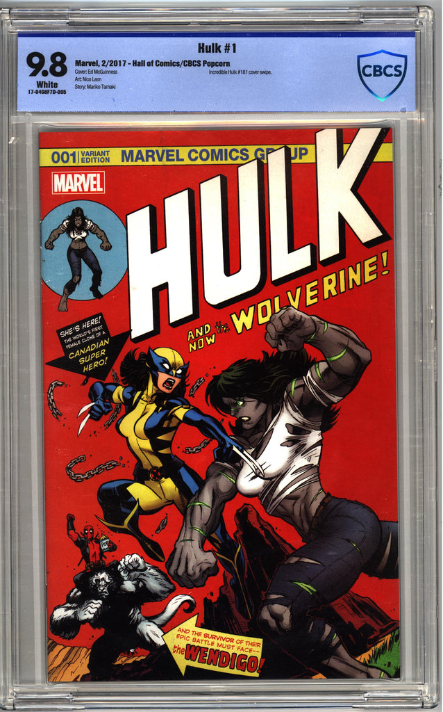 Hulk #1 (Cvr C) Full Color Special Variant Cover- CBCS 9.8