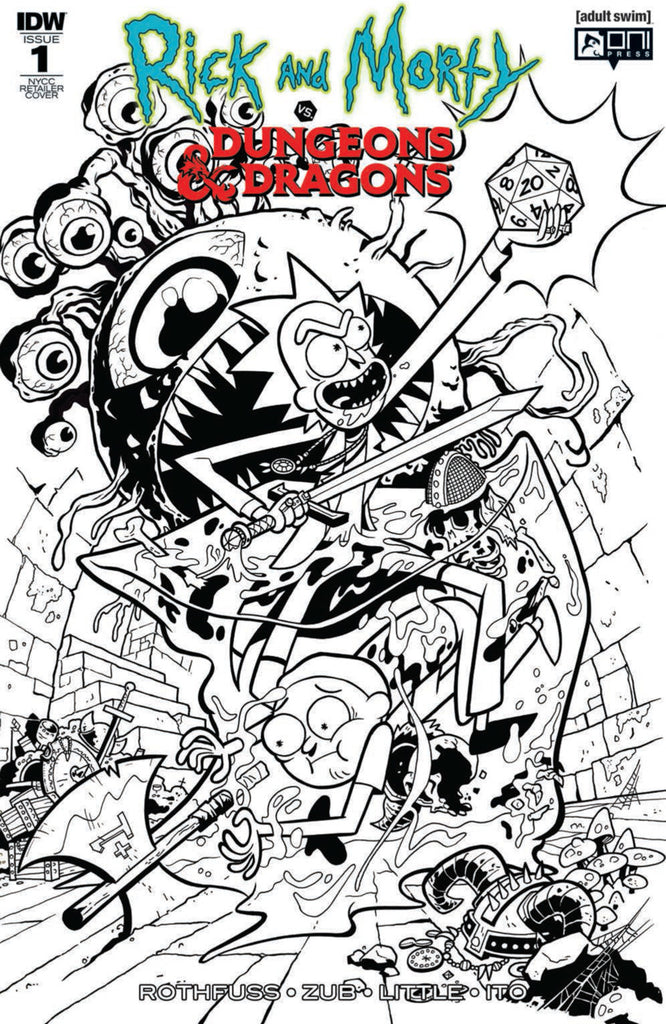 Rick and Morty vs Dungeons & Dragons #1 - NYCC Retailer Cover