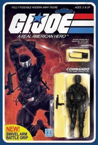 IDW - G.I. Joe: RAH #215 - Snake Eyes Action Figure Variant by Robert Atkins