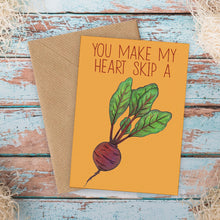 Load image into Gallery viewer, Heart Beet Funny Love Card - Cherry Pie Lane