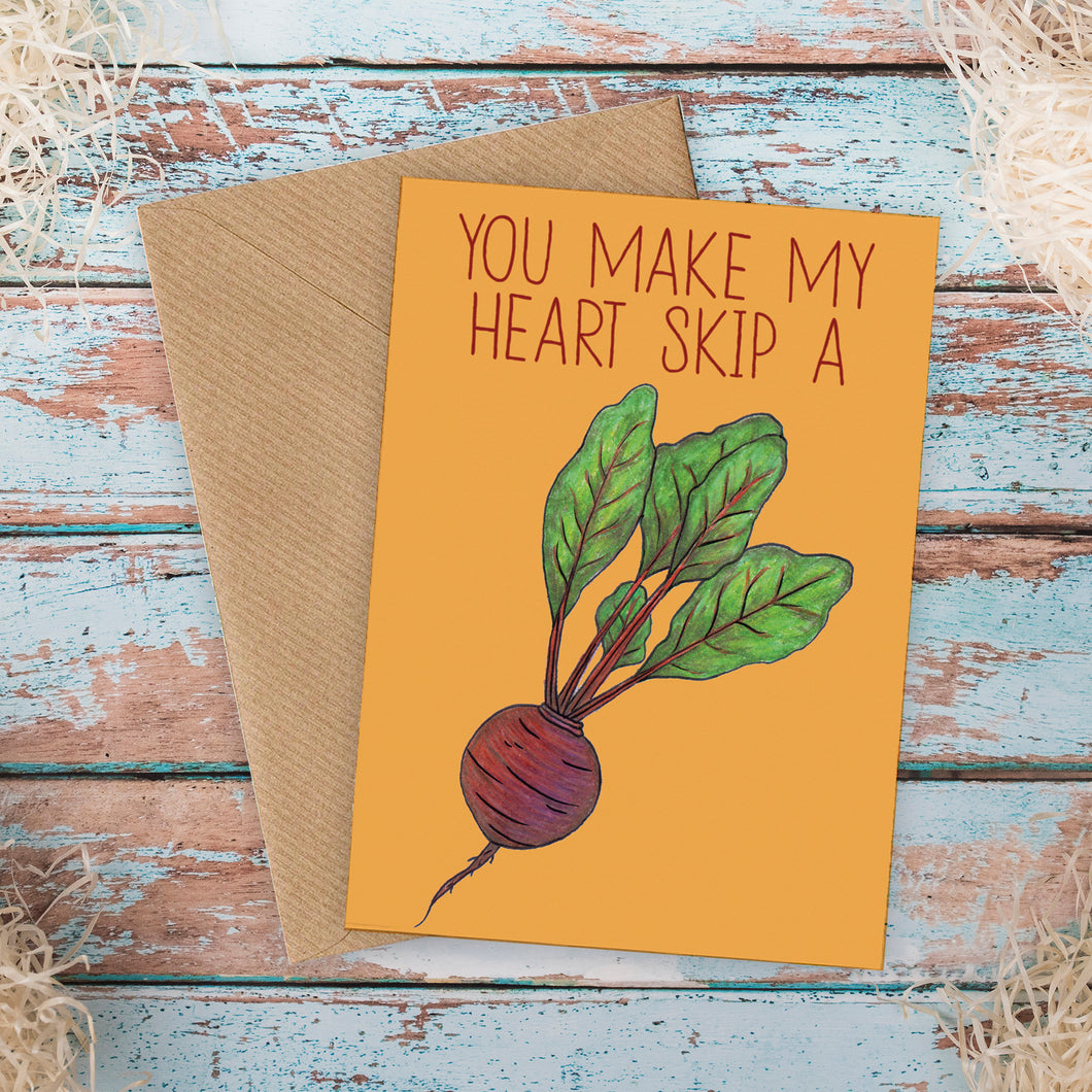Heart Beet Funny Love Card - Cherry Pie Lane