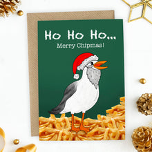 Load image into Gallery viewer, Funny Merry Chipmas Seagull Christmas Card - Cherry Pie Lane
