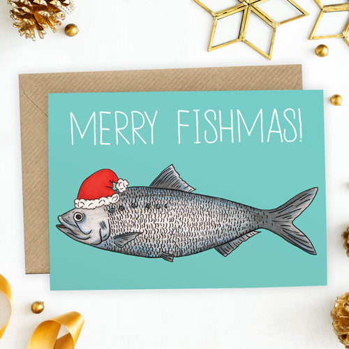 Merry Fishmas Christmas Card - Cherry Pie Lane