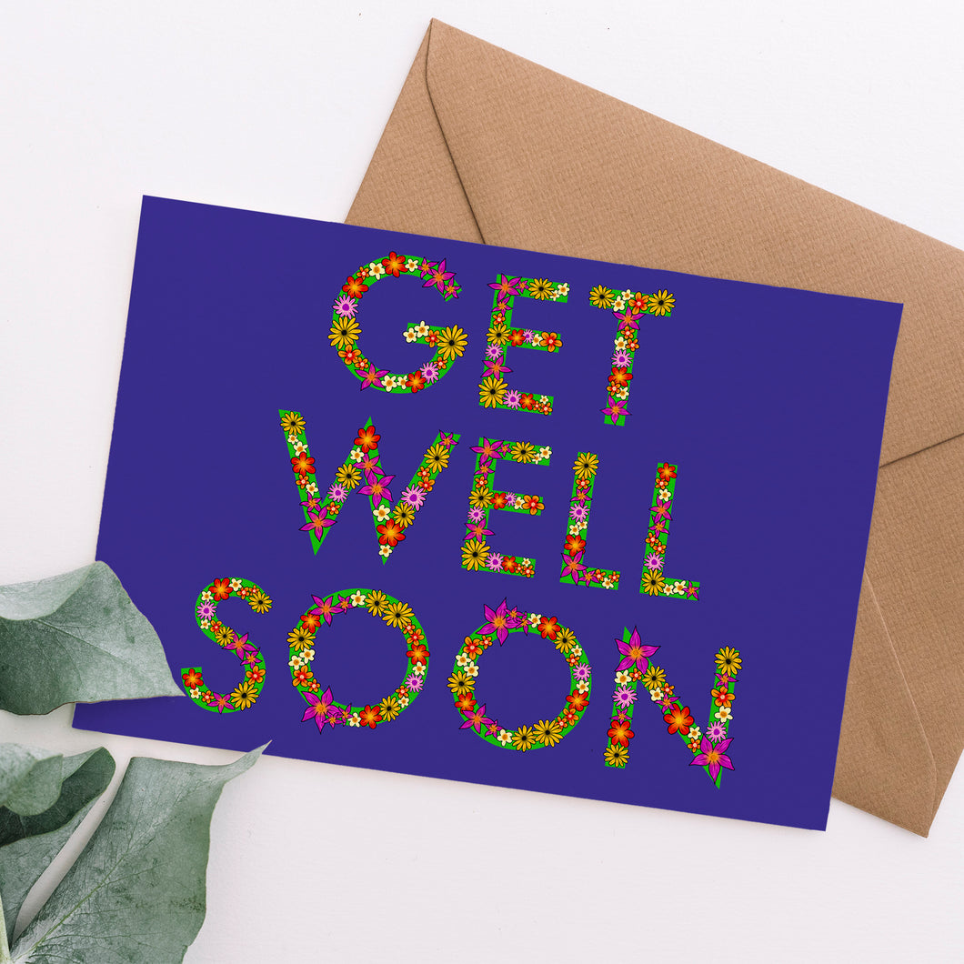Get Well Soon Floral Letter Card - Cherry Pie Lane