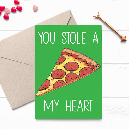 Cheesy Pizza Love Card - Cherry Pie Lane