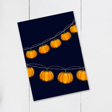 UNFRAMED Halloween Pumpkin String Light Print - Cherry Pie Lane
