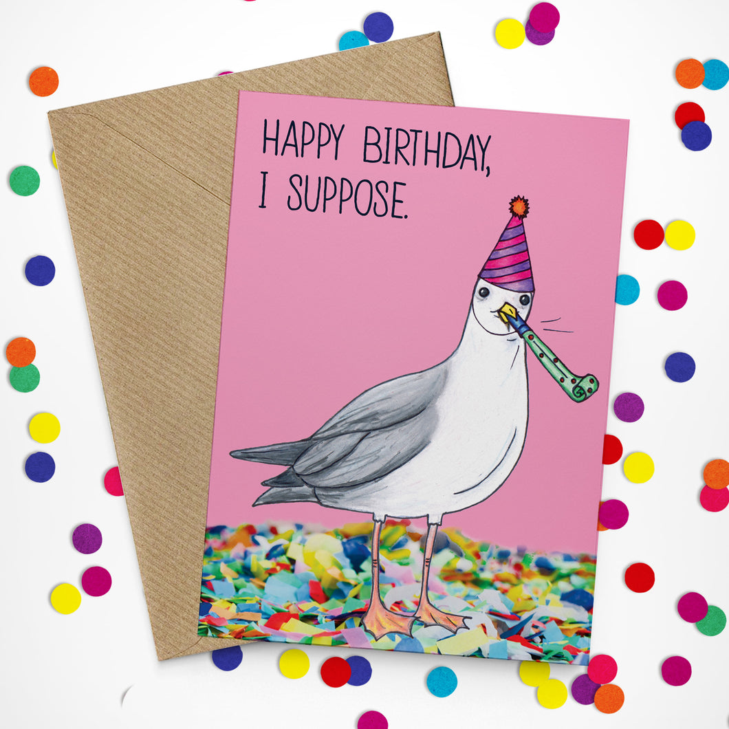 Sarcastic Seagull Birthday Card - Cherry Pie Lane