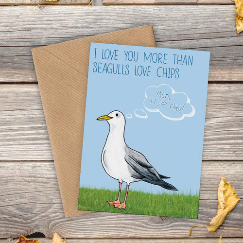 Greedy Seagull Love Card - Cherry Pie Lane