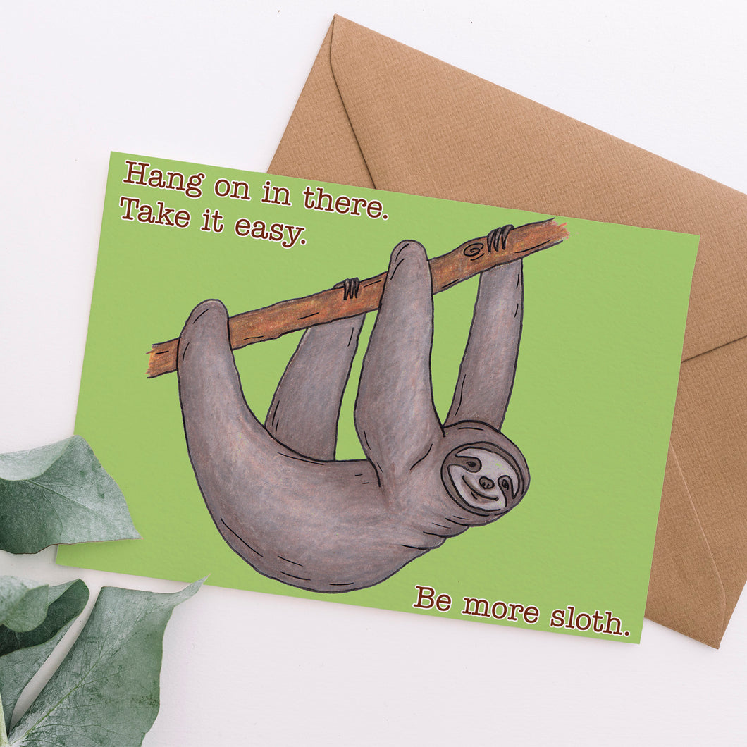 Funny Sloth Empathy Card - Cherry Pie Lane