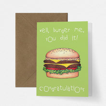 Load image into Gallery viewer, Burger Me Funny Congratulations Card - Cherry Pie Lane