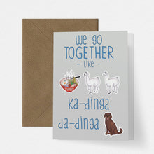 Load image into Gallery viewer, Llama Funny Song Lyric Love Card - Cherry Pie Lane