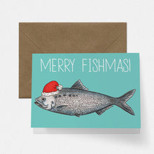 Load image into Gallery viewer, Merry Fishmas Christmas Card - Cherry Pie Lane