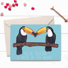 Load image into Gallery viewer, Toucan Love Card - Cherry Pie Lane
