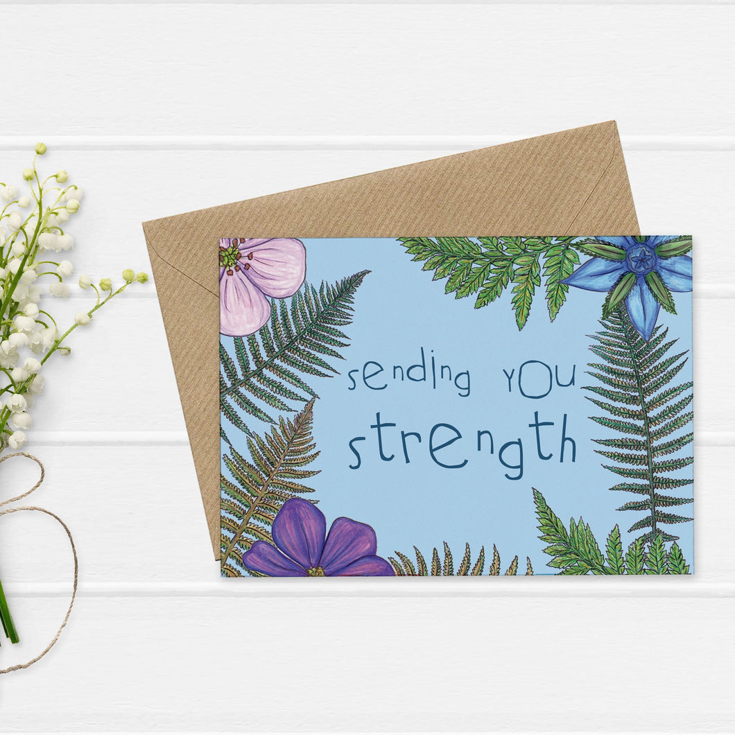 Fern and Wildflower Empathy Card - Cherry Pie Lane
