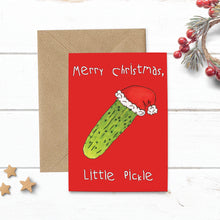 Load image into Gallery viewer, Green Pickle Christmas Card - Cherry Pie Lane
