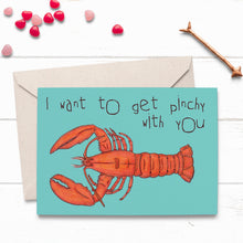 Load image into Gallery viewer, Pinchy Lobster Love Card - Cherry Pie Lane