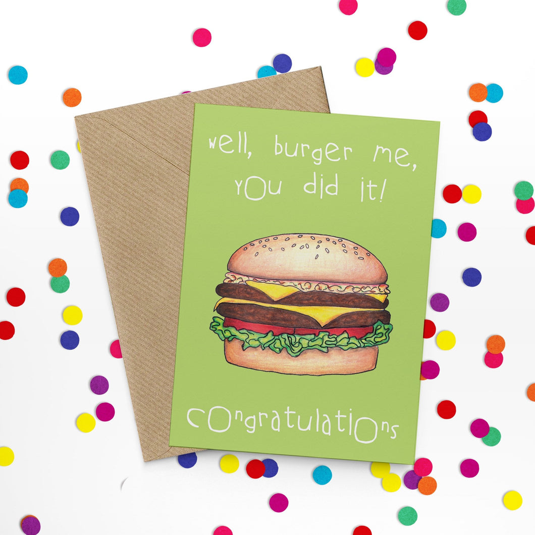 Burger Me Funny Congratulations Card - Cherry Pie Lane